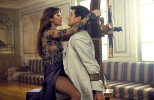 This undated publicity photo provided by United Artists and Danjaq, LLC shows Sophie Marceau, left, and Pierce Brosnan in a scene from the James Bond film, The World Is Not Enough.