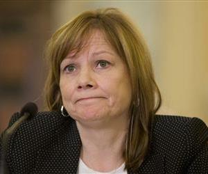 General Motors CEO Mary Barra listens as she testifies on Capitol Hill, April 2, 2014, before the Senate Commerce, Science and Transportation Subcommittee.
