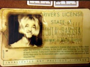 In this undated photo provided by the South Dakota Attorney Generals Office, Cheryl Miller's driver's license is seen.