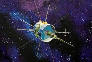 File image of the International Sun-Earth Explorer 3, or ISEE-3.