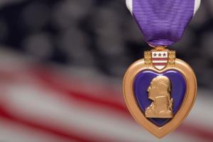 File photo of a Purple Heart.
