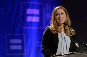 Chelsea Clinton speaks on stage at the Human Rights Campaign's Time to Thrive Conference on February, 16, 2014, in Las Vegas.