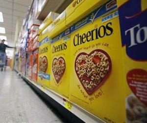 This June 16, 2011 file photo shows boxes of Cheerios in a store in Akron, NY.