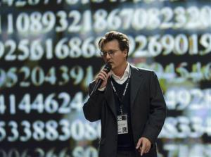 This photo released by Warner Bros. shows Johnny Depp as Will Caster in Alcon Entertainment's sci-fi thriller Transcendence, a Warner Bros. Pictures release.  The movie releases in the U.S. on April 18, 2014.