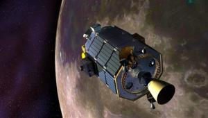 An artist's concept of the Lunar Atmosphere and Dust Environment Explorer.
