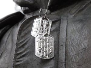A stock image of dog tags.