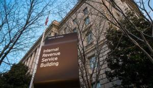 This April 13, 2014 photo shows The Internal Revenue Service Headquarters (IRS) building Washington.