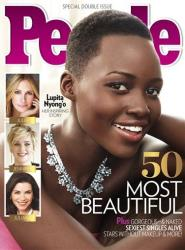 This image provided by People magazine shows the cover of its special World's Most Beautiful issue, featuring Lupita Nyong'o.