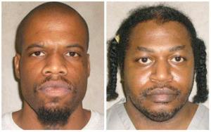 This photo combo of images provided by the Oklahoma Department of Corrections shows Clayton Lockett, left, and Charles Warner.
