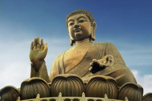 A giant Buddha statue on Hong Kong's Lan Tau Island.