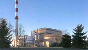 The Oregon plant burns around 550 tons of waste per day.