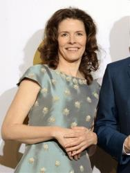 This Jan. 26, 2014 file photo shows Edie Brickell in the press room after winning at the 56th annual Grammy Awards in Los Angeles.