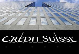 In this May 12, 2010 file photo the logo of Swiss bank Credit Suisse is pictured at an office building in Zurich, Switzerland.