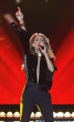 Celine Dion performs on the Plains of Abraham in Quebec City on Saturday, July 27, 2013.