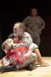 A scene from the Public Theater production of Titus Andronicus in New York in 2011.