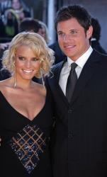 In this Jan. 9, 2005 file photo, Jessica Simpson, left, and Nick Lachey arrive at the 31st Annual People's Choice Awards in Pasadena, Calif.