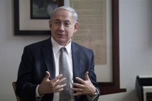Israel's Prime Minister Benjamin Netanyahu speaks during a press conference Tel Aviv.