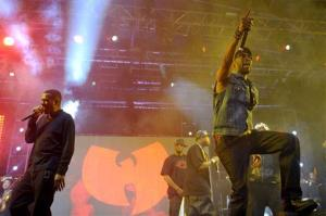 Gary Grice, aka Gza, left, and Robert Fitzgerald Diggs, aka Rza, of Wu-Tang Clan perform at the 2013 Coachella Valley Music and Arts Festival on Sunday, April 21, 2013 in Indio, Calif.