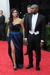 The slit in Kim Kardashian's dress was so high, she accidentally flashed her underwear at one point, Us reports.