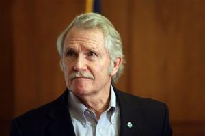 Oregon Gov. John Kitzhaber looks on during a news conference, Thursday, March 20, 2014, in Salem, Ore.