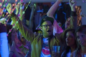 This image released by Universal Pictures shows Seth Rogen in a scene from Neighbors.