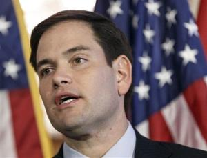 In this Jan. 8, 2014 file photo, Sen. Marco Rubio, R-Fla., speaks on Capitol Hill in Washington.