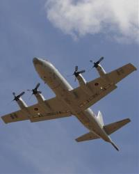 A Japanese Orion aircraft takes off from an Australian airbase during the search for MH 370.