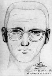 A sketch of the Zodiac killer based on witness testimonies.