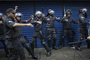 File photo of police officers in Rio de Janeiro, Brazil.