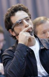 Google co-founder Sergey Brin wears Google Glass in San Francisco, Wednesday, Feb. 20, 2013.