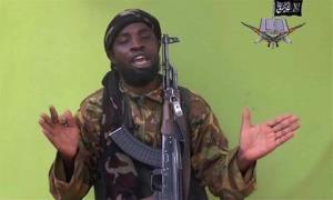 Boko Haram leader Abubakar Shekau in a photo off video.
