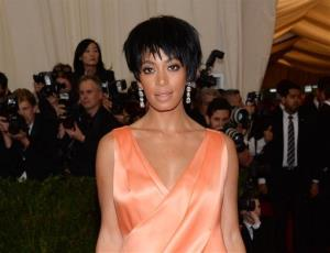Solange Knowles, sister of Beyonce Knowles, is seen at the Metropolitan Museum of Art's Costume Institute benefit gala a few hours before the elevator fight.
