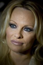 Pamela Anderson holds a press conference for PETA  in Tel Aviv, Israel.