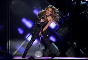 Jennifer Lopez performs on stage at the Billboard Music Awards at the MGM Grand Garden Arena in Las Vegas.