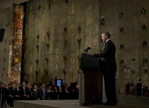 President Obama speaks at the National September 11 Memorial Museum last week.