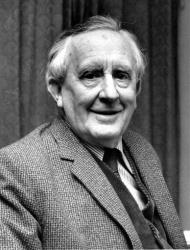 This 1967 photo shows JRR Tolkien. author of The Lord of the Rings and an Oxford University Professor.