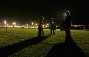 A group of death penalty opponents hold a vigil outside the prison where Missouri death row inmate Russell Bucklew was scheduled to be executed in Bonne Terre, Mo.