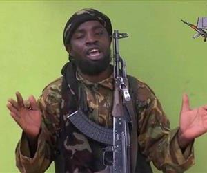 In this  photo taken from video by Nigeria's Boko Haram terrorist network, Monday May 12, 2014 shows their  leader Abubakar Shekau speaking to the camera.