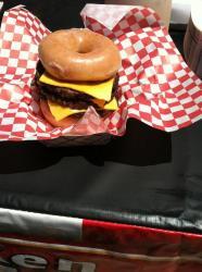 A Krispy Kreme triple cheeseburger. No lie.