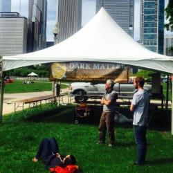 A Dark Matter coffee tent in Chicago.
