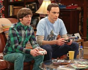 Jim Parsons, right, and Simon Helberg in a scene from The Big Bang Theory.