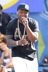Curtis 50 Cent Jackson performs on ABC's Good Morning America in Central Park on Friday, May 30, 2014 in New York.