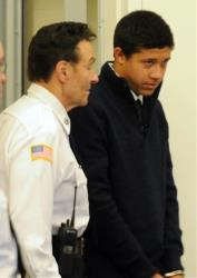 Phillip Chism is led into court in Salem, Mass., in this 2013 file photo.