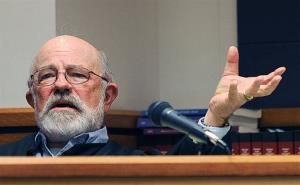 District Judge G. Todd Baugh is seen at a hearing in Great Falls, Montana.
