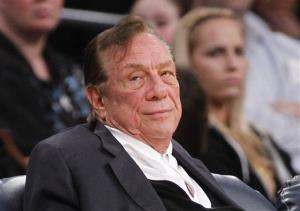 Los Angeles Clippers owner Donald Sterling watches the Clippers play the Los Angeles Lakers during a 2011 preseason game.
