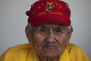 Navajo Code Talker Chester Nez is seen at his home in Albuquerque, New Mexico.