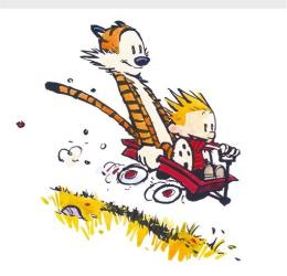 The creator of Calvin and Hobbes is back on the funny page.