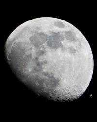 An image of the moon in the early evening Jan. 4, 2012.