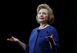 In this April 8, 2014, file photo, former Secretary of State Hillary Rodham Clinton speaks in San Francisco.