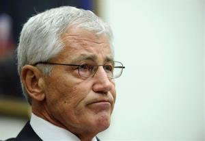 Defense Secretary Chuck Hagel listens while testifying on Capitol Hill in Washington, Wednesday, June 11, 2014, before the House Armed Services Committee.
